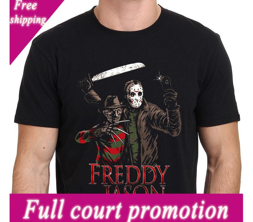 Großhandel Lässige T Shirts Graphic Men Freddy Krueger Vs Jason 13