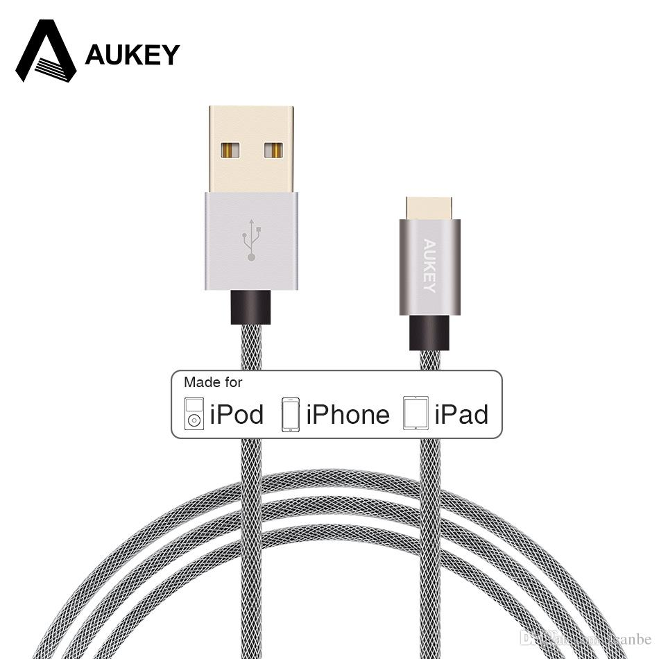4be1b50cb5784d AUKEY 1M USB Cable Fast Charging Data Mobile Phone Charger Cable For IPhone  X 8 7 6 6s 5 Plus 5s SE IPad Cell Phone Charging Cables Mobile Cables From  ...
