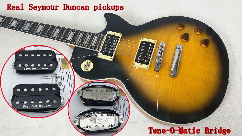 Senior Custom Slash Guitar Real Seymour Duncan Pickups 2008 Limited Edition  in Antique Vintage Sunburst One piece body neck