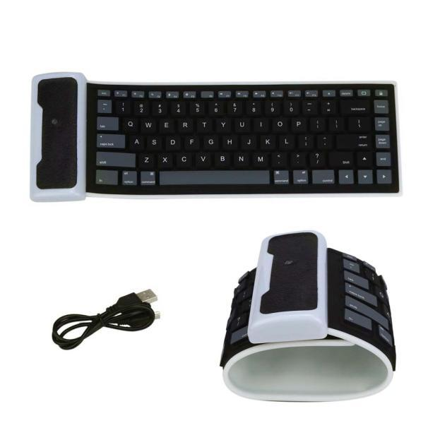 Awe Inspiring Usb Portable Mini Flexible Roll Up Waterproof Washable Soft Silicone Gaming Wireless Keyboard For Pc Tablet Laptop Computer Best Image Libraries Counlowcountryjoecom