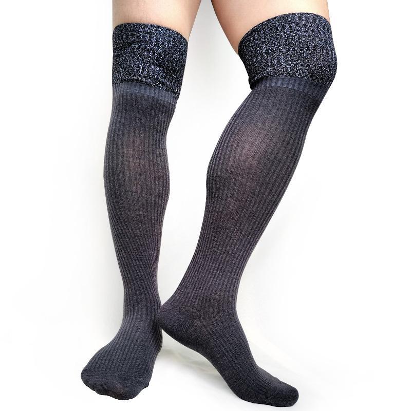 grande sconto scegli ufficiale qualità perfetta Calzini da uomo in cotone patchwork a righe calze spesse calze termiche  sexy da uomo in cotone nero vestito formale da lavoro calze lunghe
