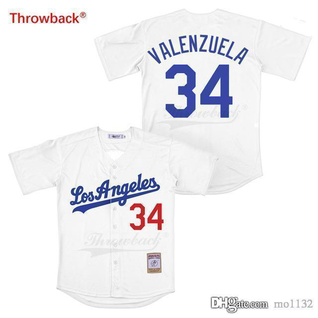 reputable site 5b72a 255dd Throwback Jersey Men's Movie Los Angeles Jersey Valenzuela Baseball Jerseys  Shirt Stiched Size S-XXXL Wholesale Free Shipping