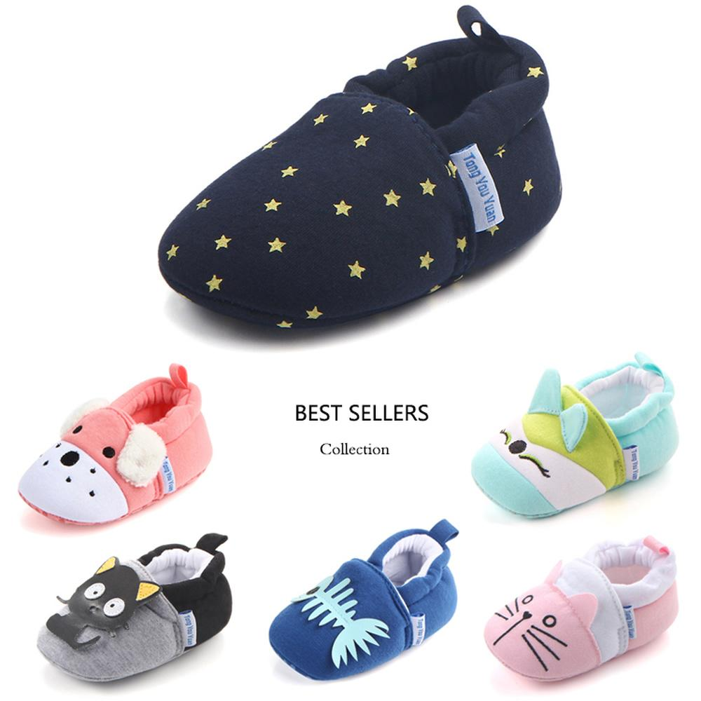 Newborn Cute Baby Infant Todddler Boys Girls Soft Warm Cotton Crib Shoes 3D Bear