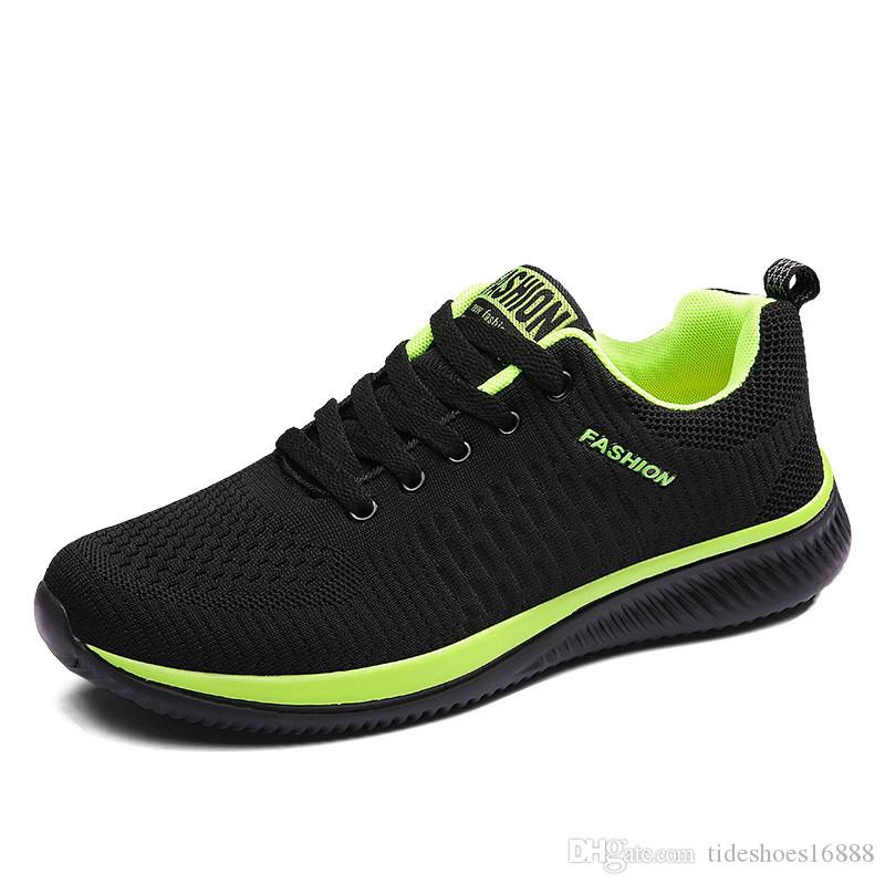 97c14133d7 New 2019 Fashion Cool Breathable Mesh Men Sneakers High Quality Hot Sales  lLce Up Ultra Light Fly Weave Resistant Shoes Man Sneakers