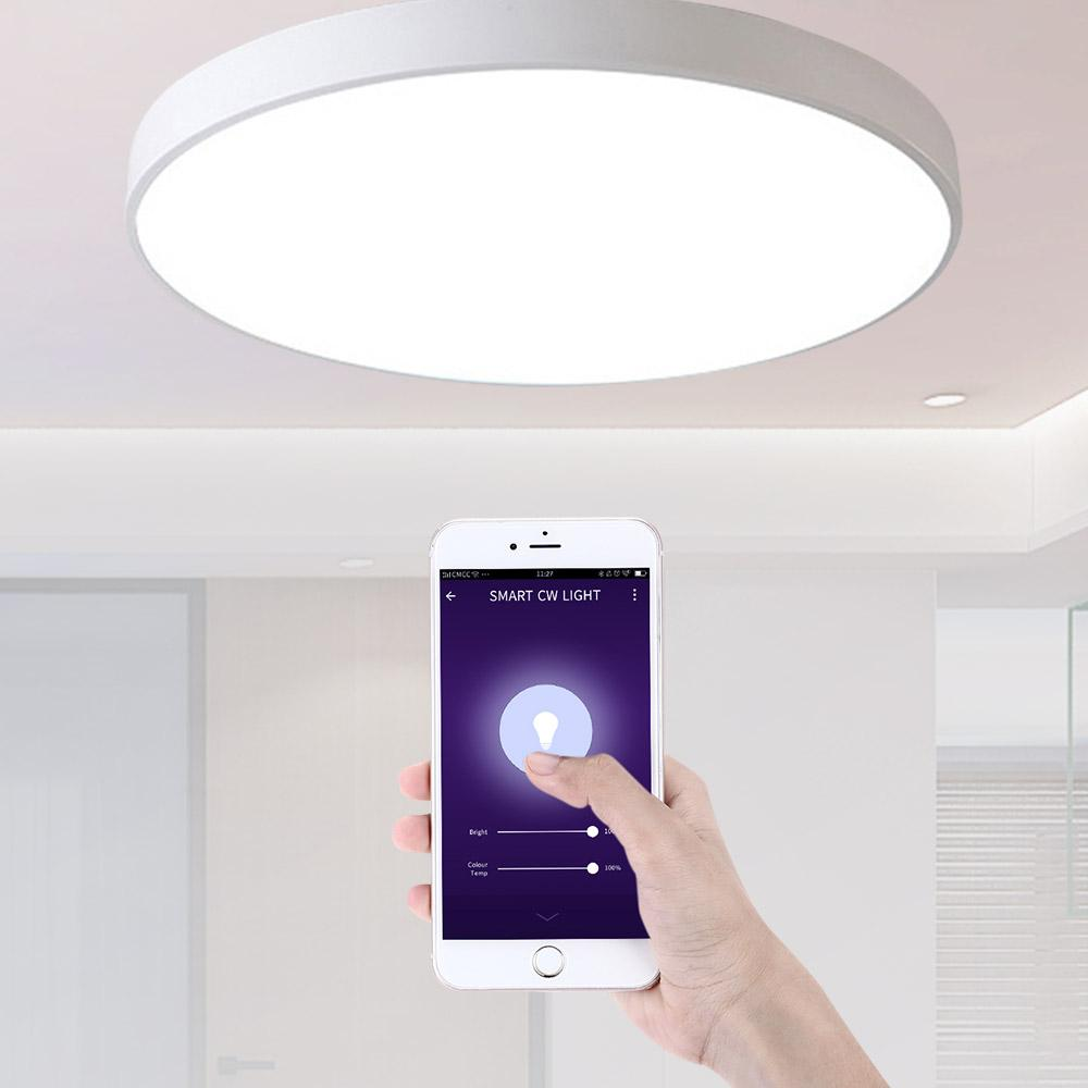 2019 smart led ceiling light voice remote control lighting fixture modern lamp surface mount support alexa google home living bedroom from amarylly