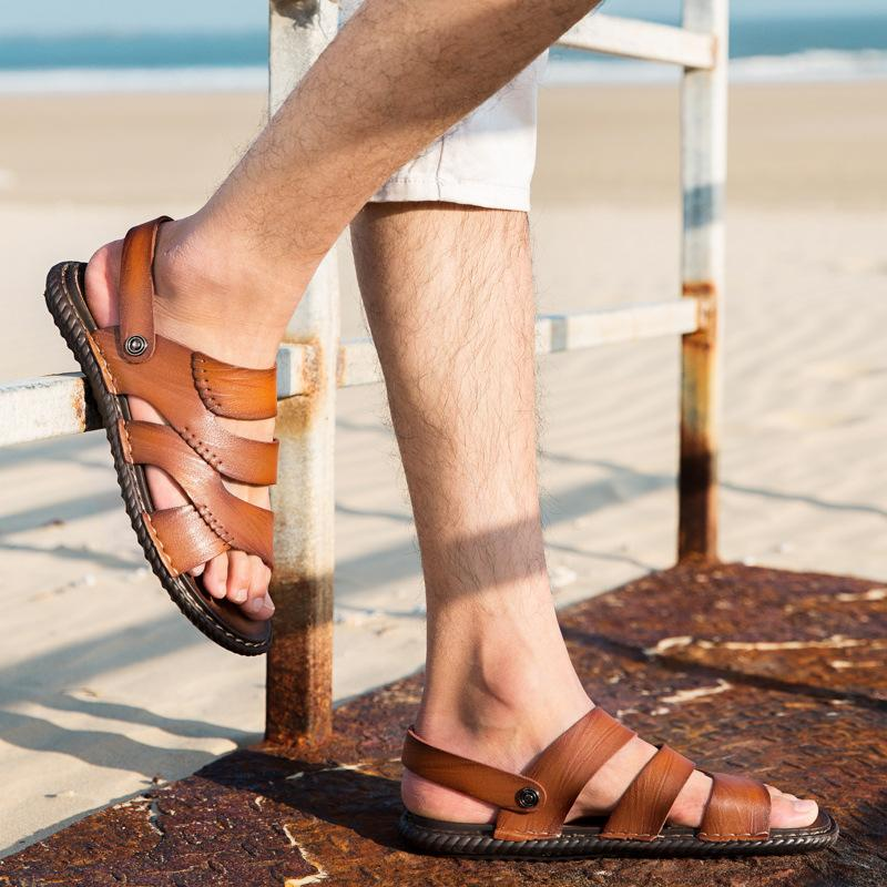 c12a3736994c Classic Men Soft Sandals Comfortable Men Summer Shoes Leather Sandals Big  Size Soft Roman Comfortable Summer Espadrilles Birkenstock Sandals From  Serady