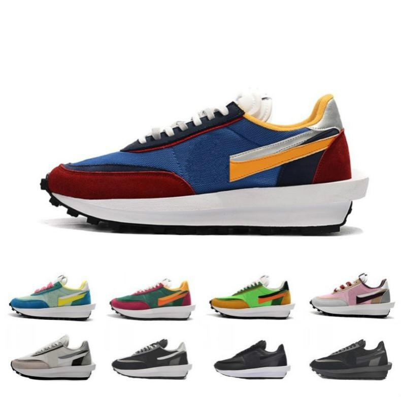 2019 cheap sacai ldv ld waffle men women running shoes Black White Grey Pine Green Gusto Varsity Blue mens trainers sports sneakers news
