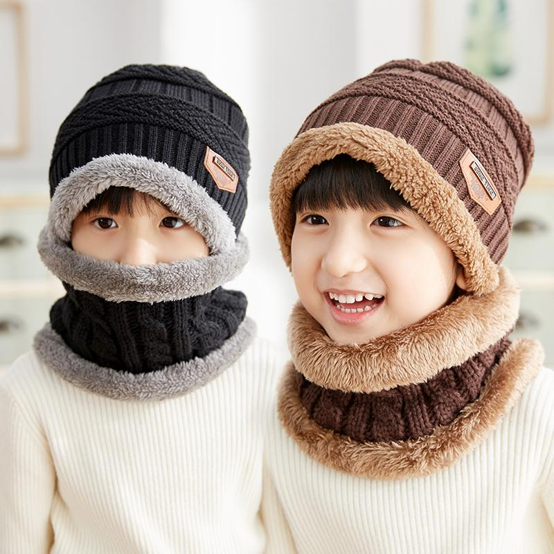 2019 Baby Hat Infant Fleece Caps Cotton Circle Scarf Baby Beanies Toddler  Boy Autumn Winter Hats Kids Girls Knitted Thicken Warm Hat From Cynthia04 1e7df81ac76d