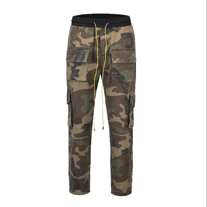 2019 NEW Mens Camouflage Jeans Cargo Pants Fashion Casual Spring Autumn Pants Pockets Designer Jogger Trousers