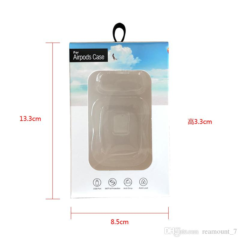 New Arrival Paper Box Packaging For Airpods Case With Clear Plastic Window Box+pvc inner tray Airpod Cover