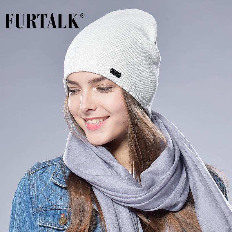 27a077509cf8cb FURTALK Autumn Winter Watch Cap Woman Wool Knit Beanie Cap Braided Hat  S18120302 Fedora Hat Baseball Caps From Datai, $19.79| DHgate.Com