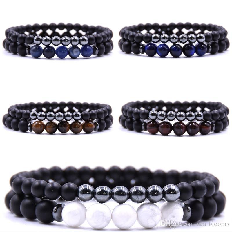 15c485cd66acf 5 Styles Natural Stone Bracelets Set 8MM Tiger Eye Elastic Energy Stone  Bracelet Women Men Jewelry Gift Support FBA Drop Shipping M151F