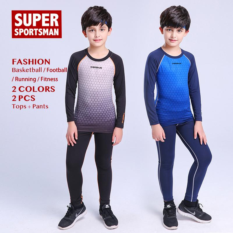 2019 Children Running Jogging Suits For Men Fitness Gym Clothing Kids  Sports Clothes Baby Boys Basketball Training Sportswear Tights From  Bluelike 322de06c8
