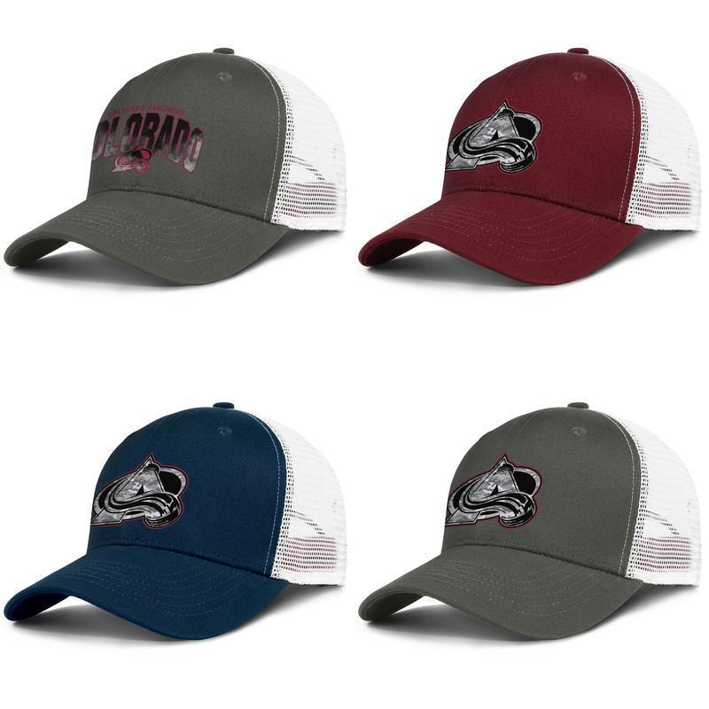 Colorado Avalanche Eishockey Core Smoke Männer Frauen Trucker Mesh Snapback Cap verstellbare Passform Jugend Outdoor Plain Stretch Fat Performance