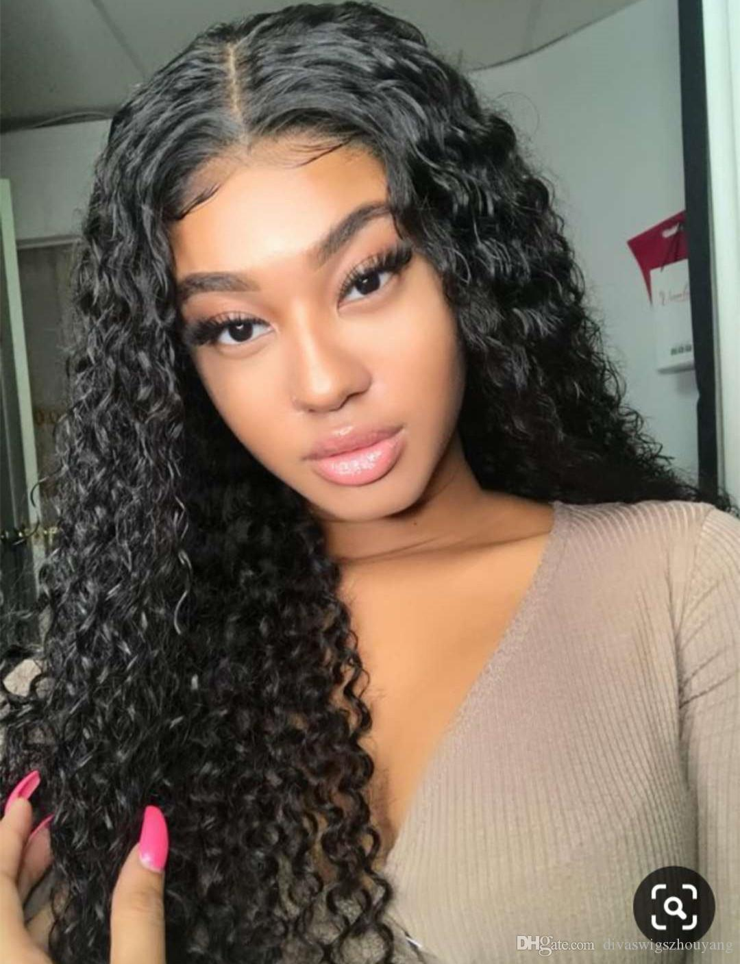 Center part lace frontal wig pre plucked water wave 360 full lace wig cap 130% brazilian remy hair wig 10-24inch