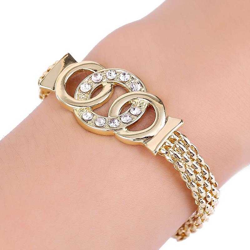 ensemble boucles d'oreilles collier bague bracelet bijoux cadeau charme pour les femmes dame mariée M8694