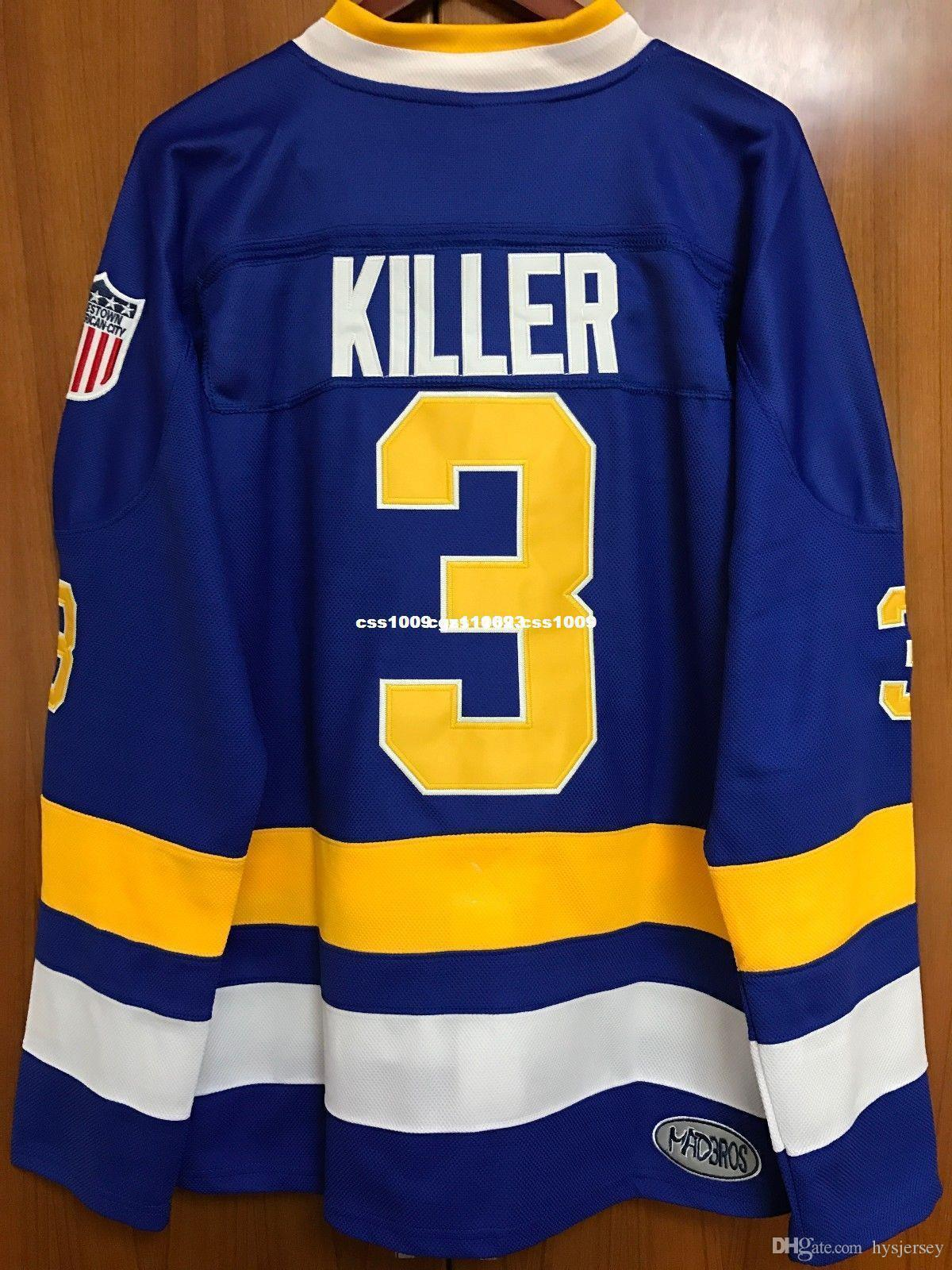 2019 Cheap Custom Slap Shot Dave Killer Carlson  3 Ice Hockey Jersey  Charlestown Chiefs Stitched Customize Any Number Name MEN WOMEN YOUTH XS  5XL From ... 64b081da4e7