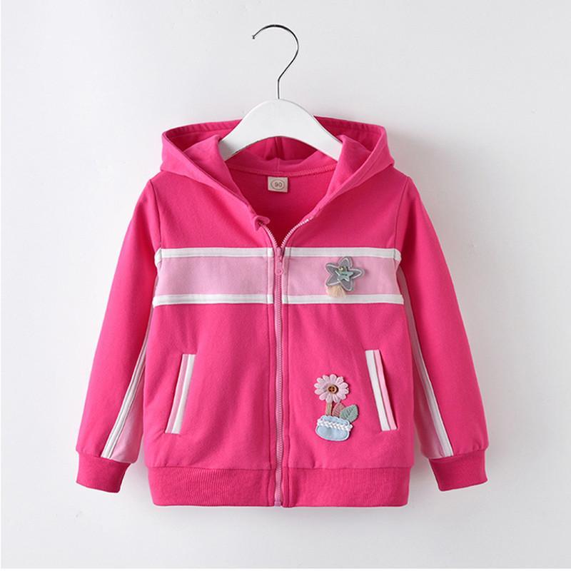 0f1be7e0ab55 BibiCola Spring Autumn New Girls Jacket Children Flower Mosaic ...