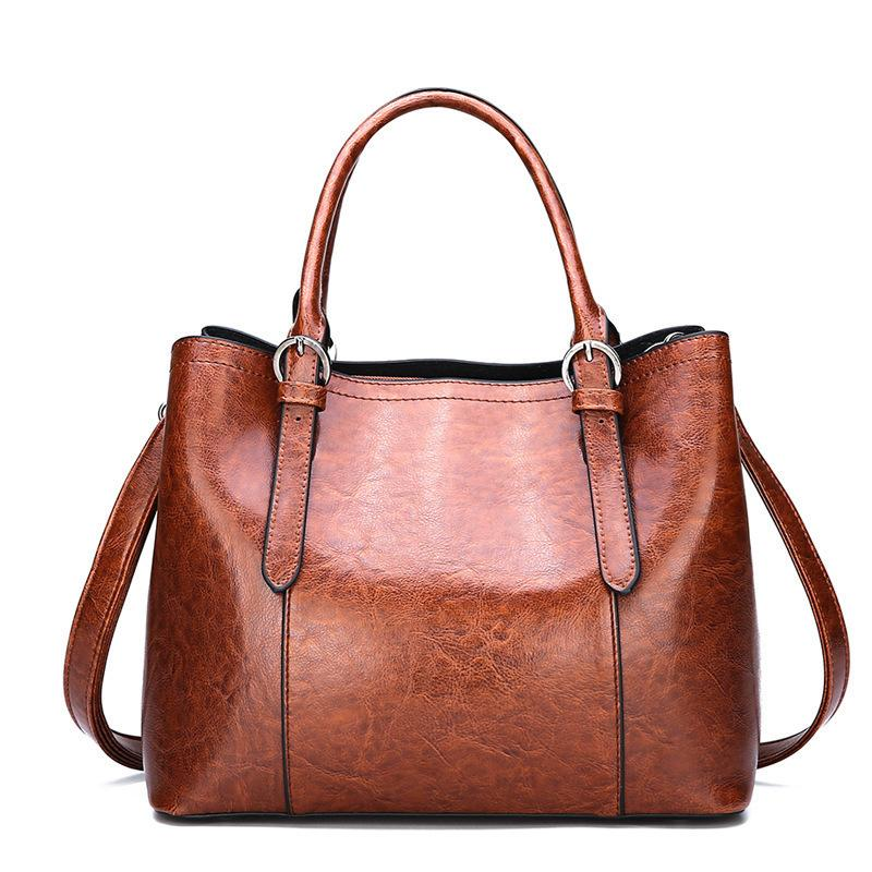 daf2327cbaef71 Großhandel Vintage Mode Luxus Tragetaschen Für Frauen Handtaschen Aus Leder  Weibliche Umhängetaschen Top Griff Damen Handtaschen Sac Ein Haupt Femme  Von ...