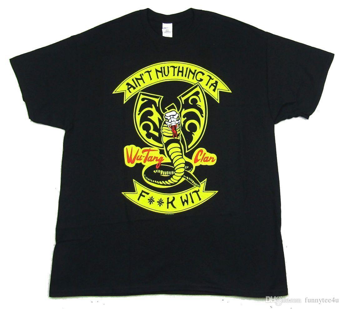 Wu Tang Clan Ain'T Nuthing Ta F Wit Black T Shirt New Official Merch T Shirt Short Sleeve Tshirt Men Summer Car Styling