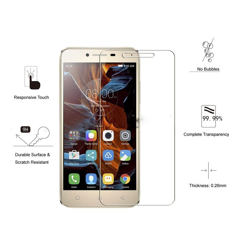 2pcs Tempered Glass for Lenovo Vibe K5 Note 2018 K350t Play Note Pro plus Explosion-proof Protective Film Screen Protector