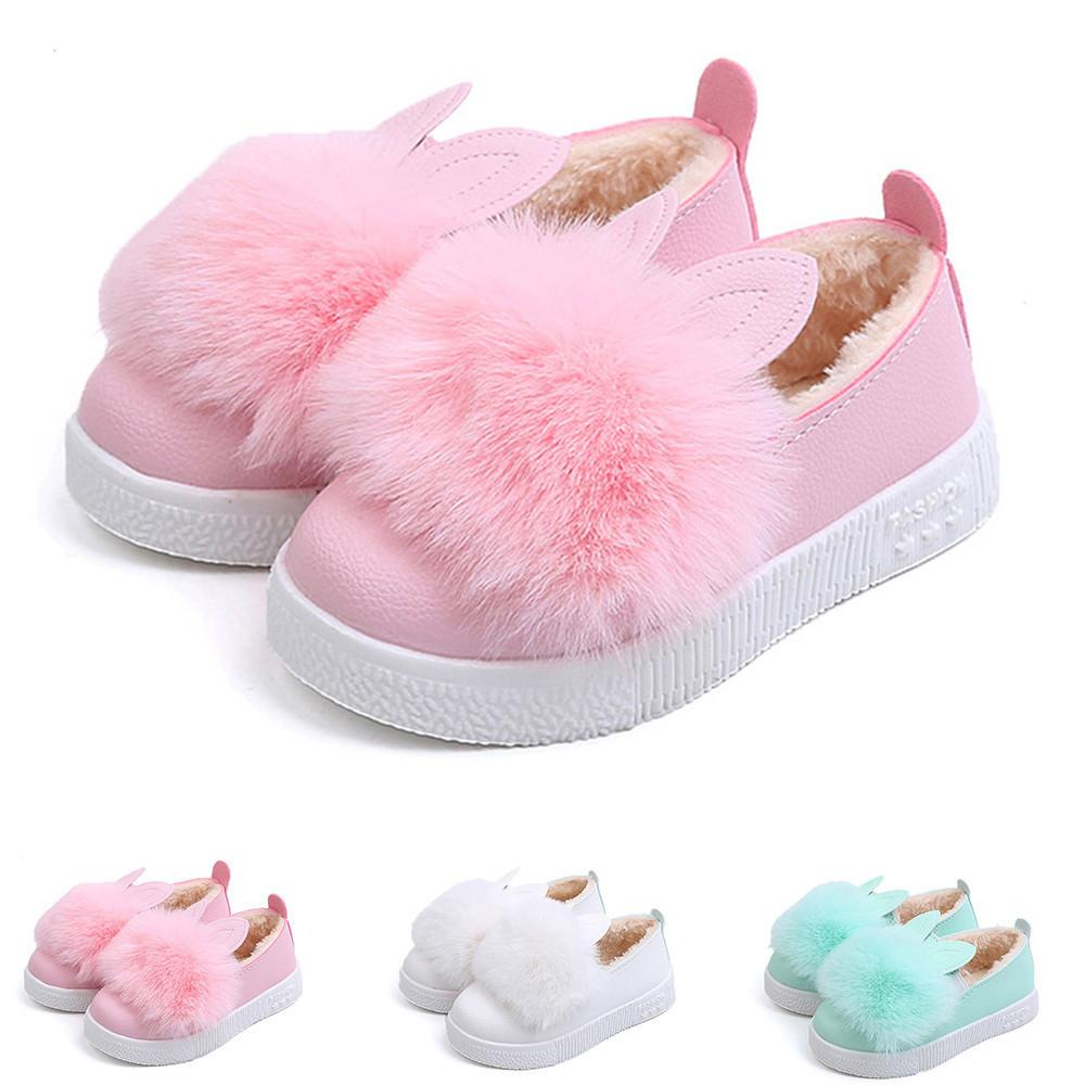 b714c895f8921 Good Quality Children Shoes Winter Warm Baby Sneaker Girl Bunny Soft Anti  Slip Boot Rabbit Ear Shoe Chaussure Enfant Kid Work Boots Big Kids Boots  From ...