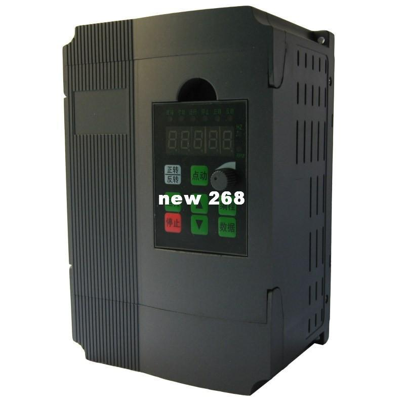 Freeshipping 1 Pcs 1 5kw inverter simple single phase frequency converter  3-phase 220v 380v motor speed controller free post