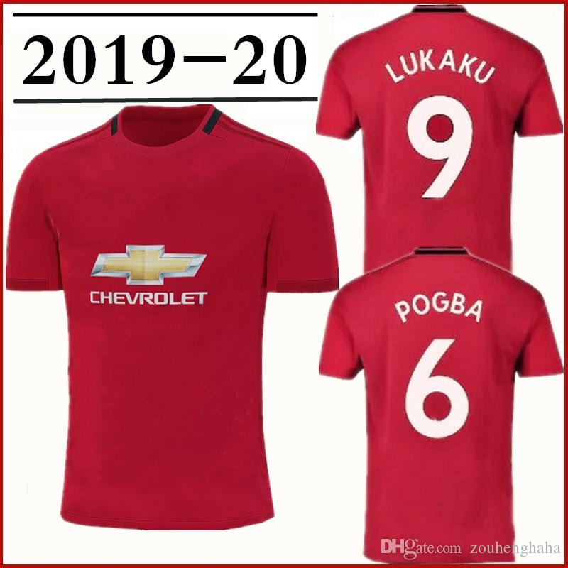 quality design 55257 9ccb0 Man Utd home soccer jersey POGBA 2019 20 Manchester MARTIAL LINGARD MATIC  SMALLING RASHFORD Lukaku SOLSKJAER United Football shirt