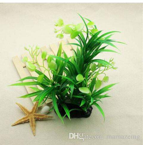 Hot sales Free shipping Artificial Aquarium Submarine Green Grass Fish Tank Ornament Water Plant Decor