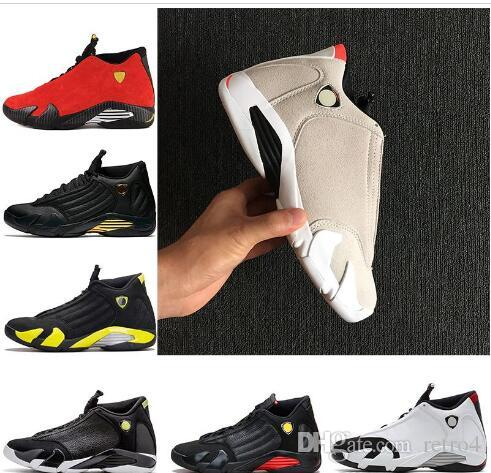 4cbfddc4828101 14 XIV Oxidized Green Indiglo Thunder Playoffs Black Toe Red Suede 14s Men  Basketball Shoes Sneakers Last Shot Sport Shoes Designer Trainers Cheap  Shoes 4e ...