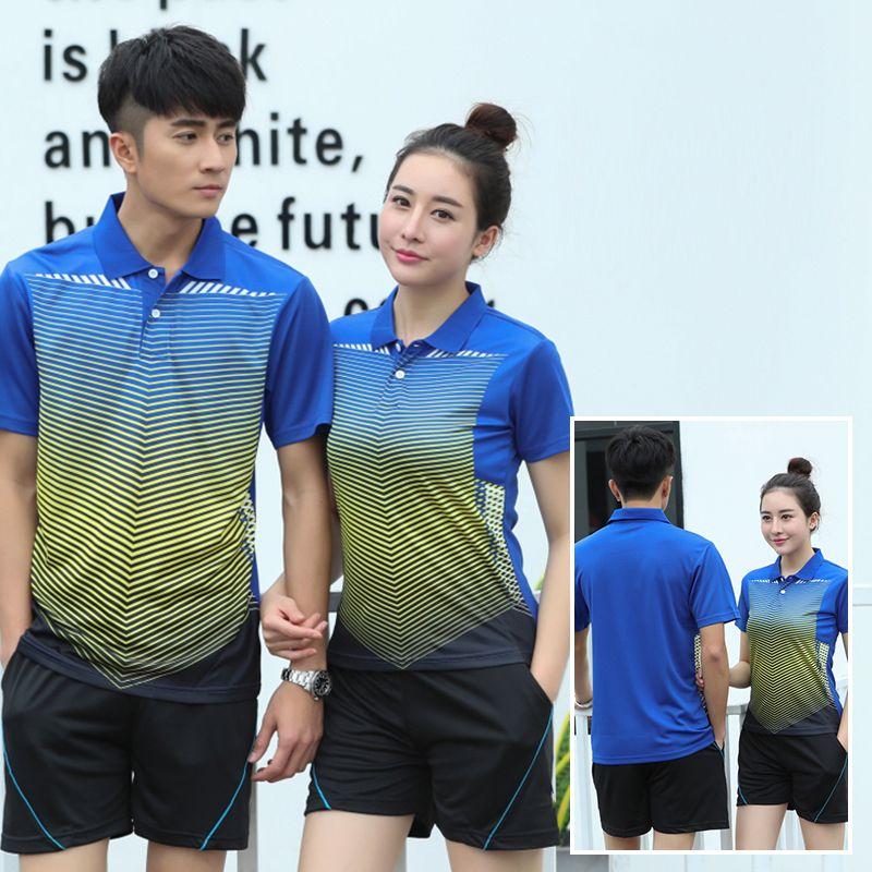 9b2d520f2 Badminton Shirt 2018 New Sport Kits Quick Dry Badminton Sets Couple Model  Women Men Breathable Clothes Tennis Wear Jerseys Jersey Jerseys Jersey Men  Jersey ...