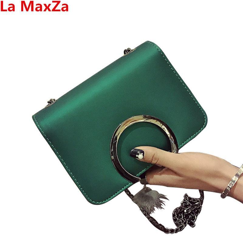 85732d175 Compre Diseñador La MaxZa Bolsos De Mujer Baratos Cadenas Verdes Bolso  Bandolera Para Mujer De Color Rojo Estilo Coreano Bolsos Femeninos Bolso  Messenger De ...