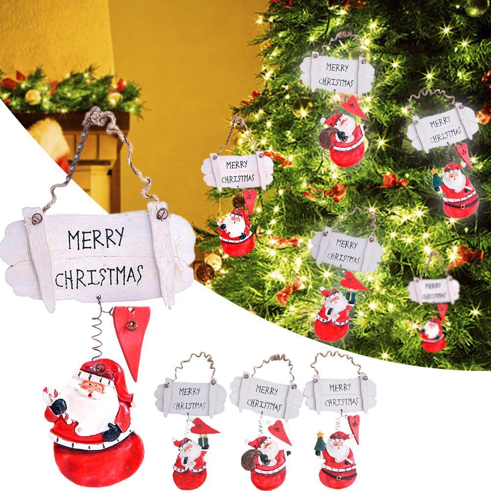 2019 New Cute Santa Claus doll Creative Decoration Pendant Toy Ornaments for Christmas Tree Ornaments Baby Kids Xmas Doll Gifts