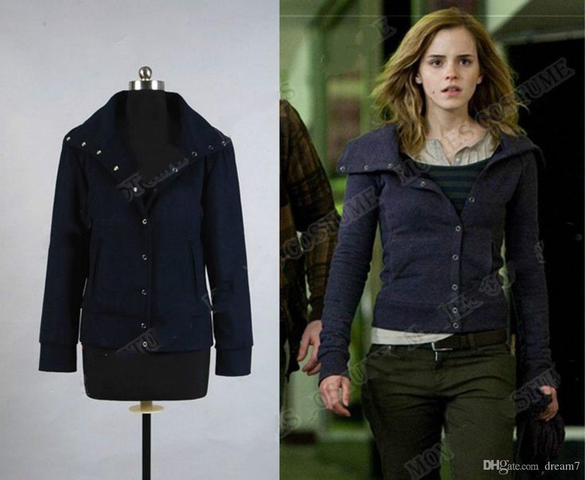 Costume Halloween Hermione.Hot Deathly Hallows Hermione Granger Cosplay Jacket Tops Coat
