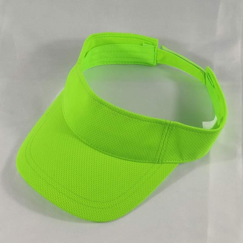 3b9cacafc Orange Lime or Neon Green Mesh Sun Visor Caps Men Women Plain Adjustable  Sport Visors Golf Tennis Running Jogging Hiking Camping