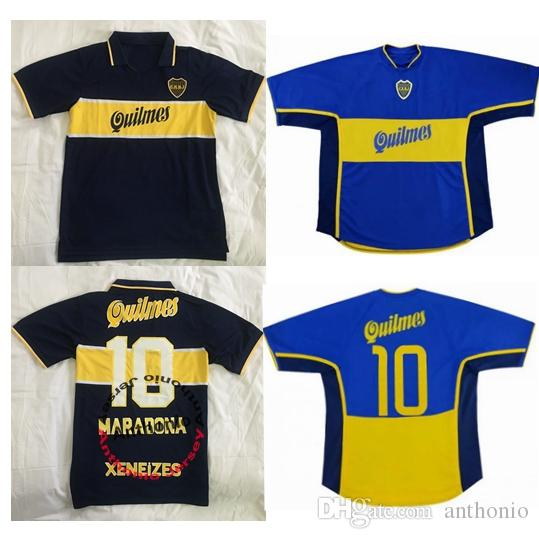 fed3c8c2666 2019 1997 98 Retro Classic Boca Juniors 2000 2001 Diego Maradona Roman  Riquelme Soccer Jersey Thailand Football Jerseys Soccer Jerseys Uniforms  From ...