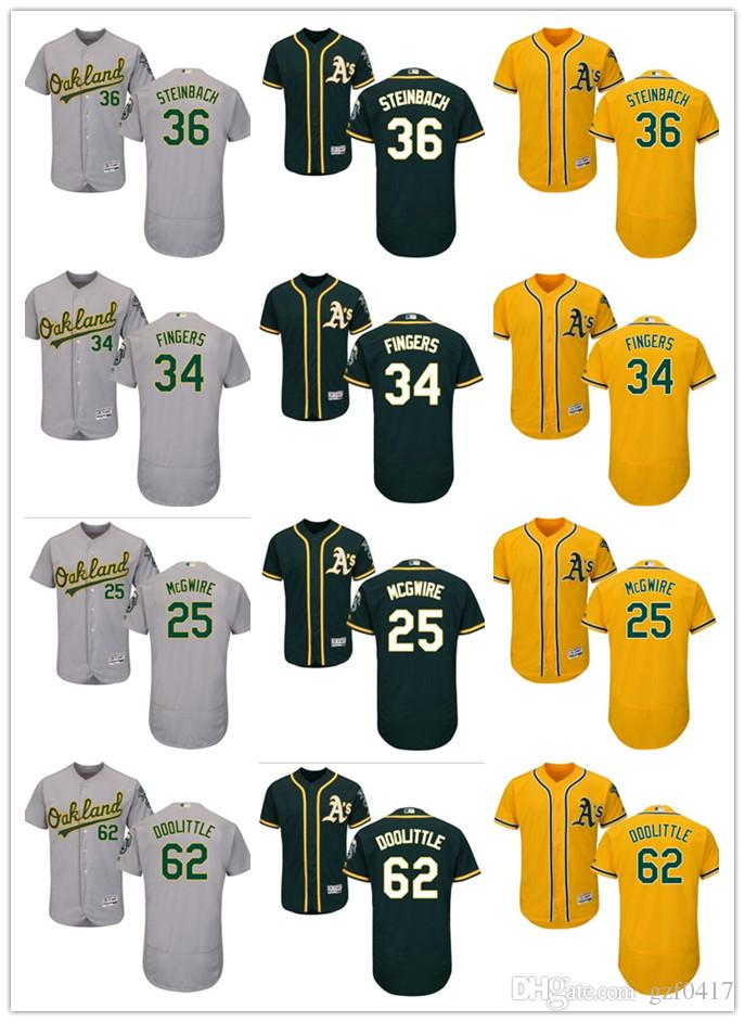 5c1520a9d ... cool base jersey majestic 2fb77 a8f28  cheapest 2018 custom mens  oakland athletics jersey 25 mcgwire 34 rollie fingers 36 terry steinbach 62