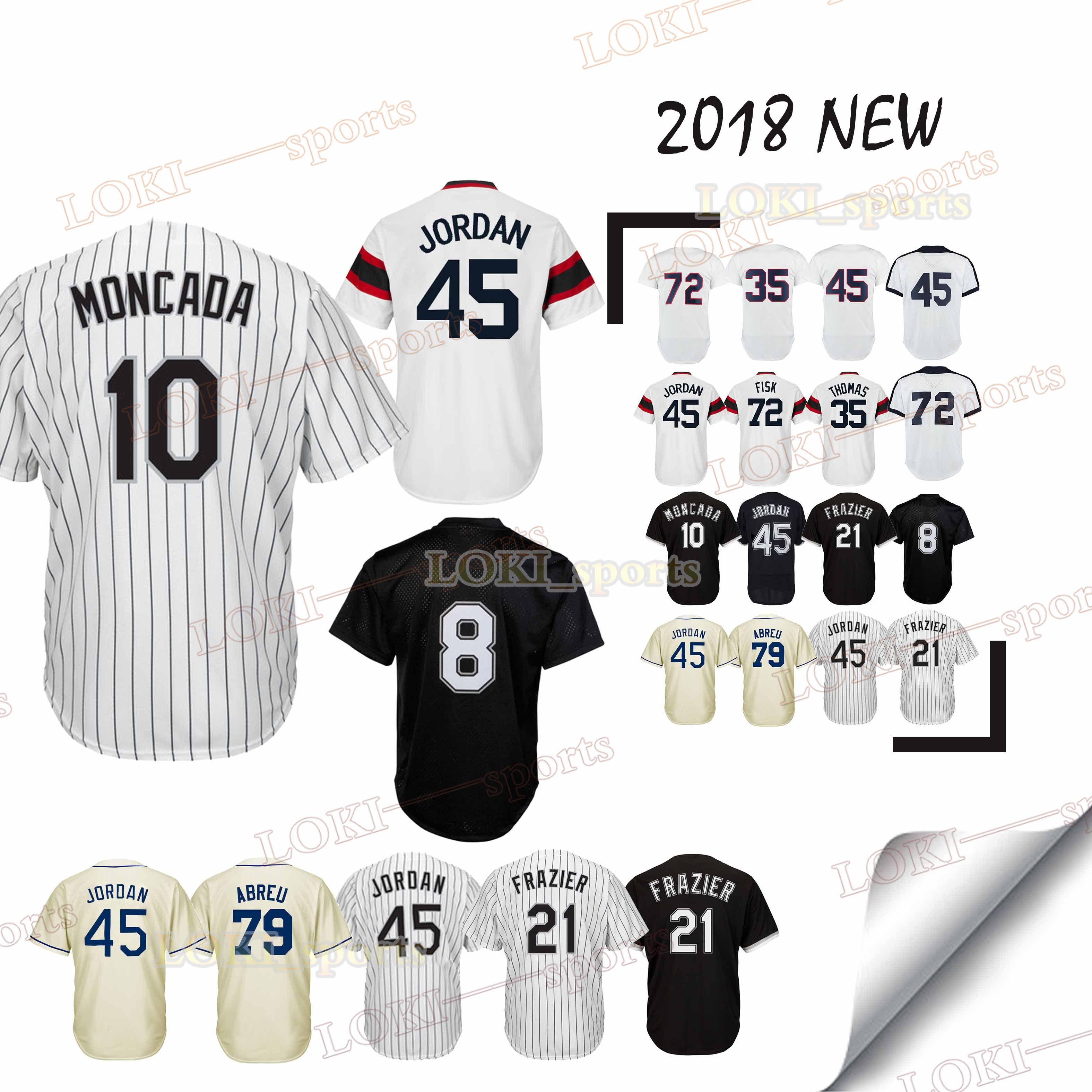 best website 18a4e 5742d Chicago White Sox jerseys 8 Bo Jackson 10 Yoan Moncada 79 Jose Abreu 35  Frank Thomas 18/19 new jersey men