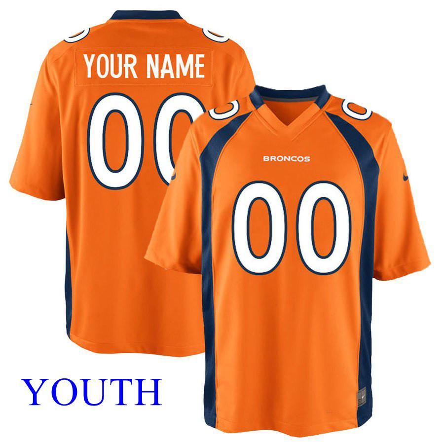 5a79b07a308 2019 Youth Joe Flacco Jersey Custom Broncos Stitched Bradley Chubb ...