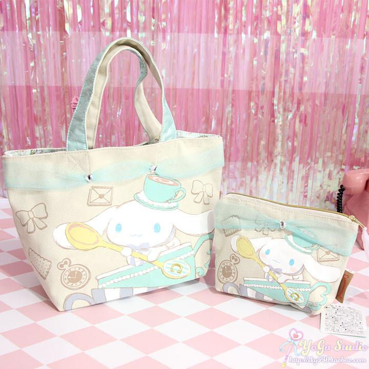 Cartoon Cute Cinnamoroll Dog Anime Cosmetic Bag Women Cinnamoroll Dog Lace Makeup Bags Storage Bag for Girls Lover Gift
