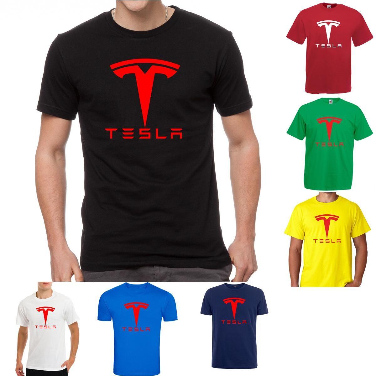 3c58a9791 Tesla Motors Car Elon Musk Fan Moto Rally Electric Nikola Nerd Geek T Shirt  100% Cotton T Shirts Brand Clothing Tops Tees High Quality Novelty Shirts  ...