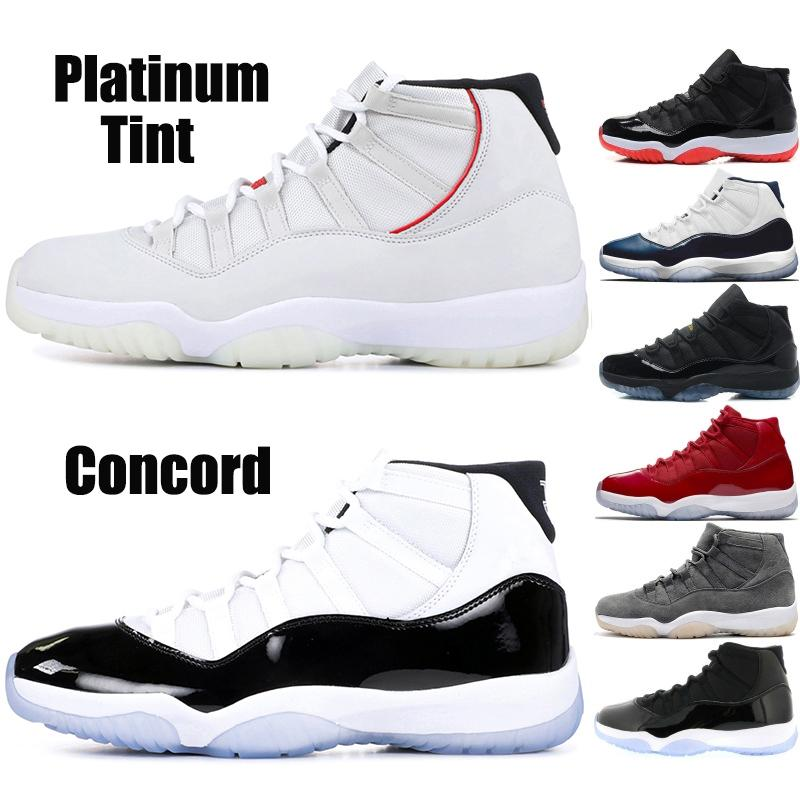 7b17792c1a5577 2019 New 11 XI Concord 45 Mens Basketball Shoes 11s Platinum Tint Space Jam  23 Win Like 96 Balck Bred Designer Men Sports Sneaker From Journeys