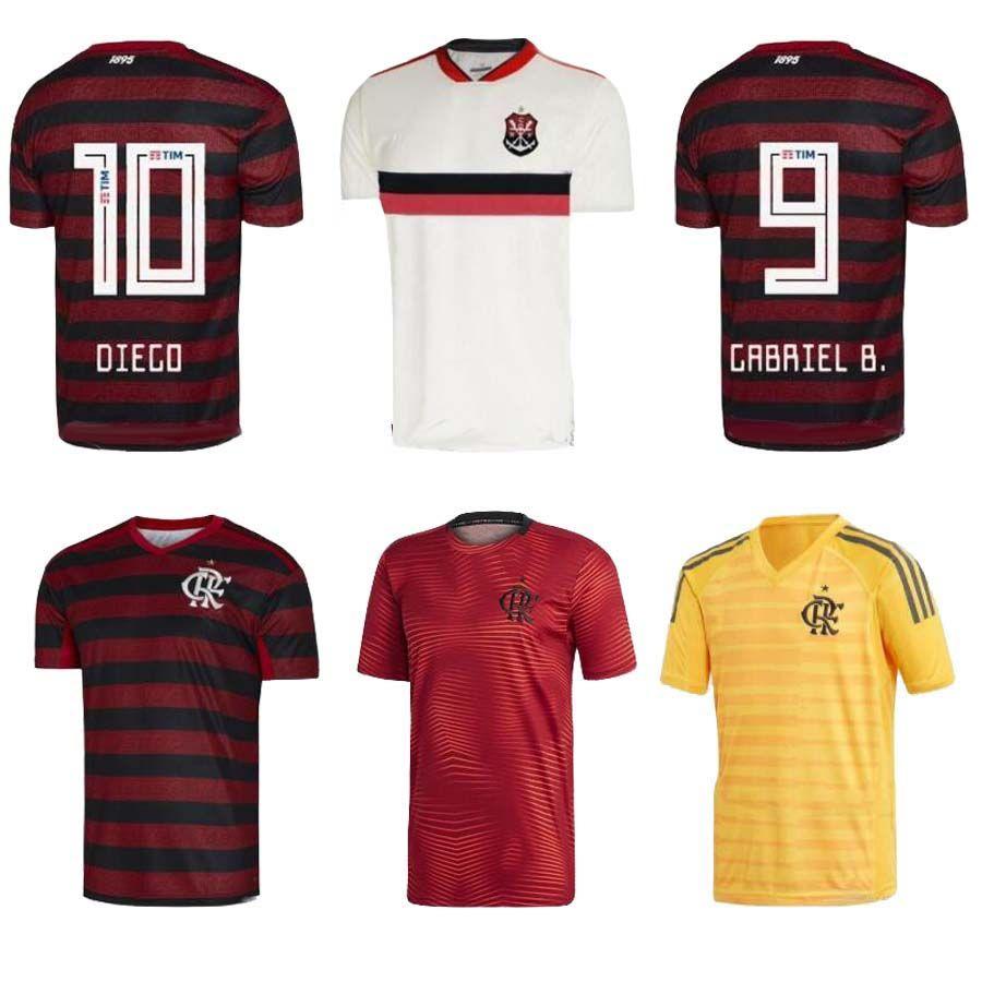 super popular 7dcf4 dd929 CR Flamengo 2019 2020 soccer jersey 19 20 Flamenco away white Camisa de  futebol GUERRERO DIEGO 2019 football shirt maillot
