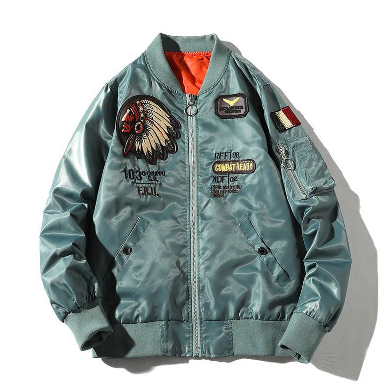 Acquista MA1 Fight Bomber Giacche Luxury Ricamo Abbigliamento Uomo  Primavera Autunno Giacca Casual Cappotti Larghi A  70.14 Dal Zhenhuang  57171cc1452