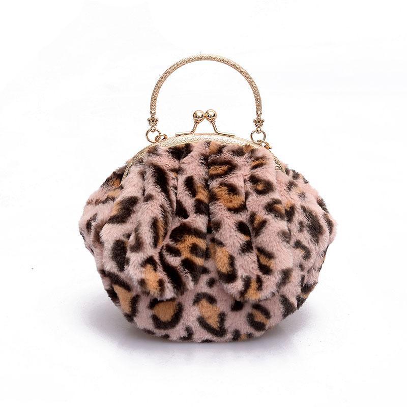 91ea47cfc1fc Bag female autumn/winter leopard print New tide Korean version plush chain  single shoulder crossbody bag hundred outdoor cute handbag