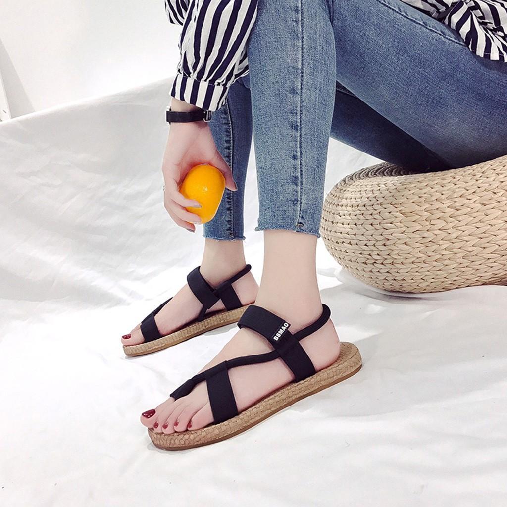 750ab363bc Compre Nuevo Llega Sandalias Para Dama Verano Mujer Zapatos Damas Moda  Tacón Plano Tobillo Playa Sandalias Punta Redonda CasualZapatos Calzado A   32.02 Del ...