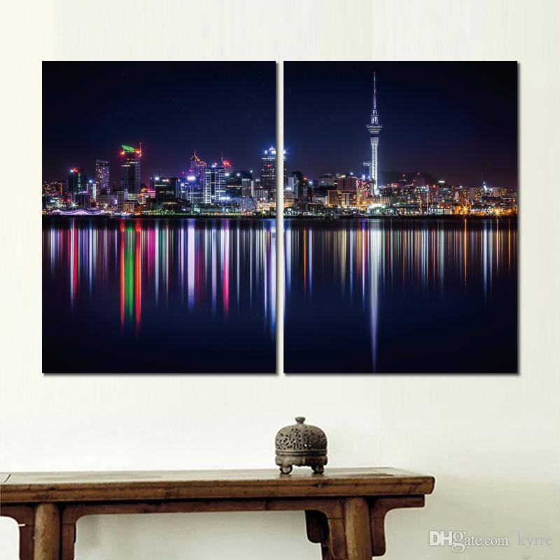 HD canvas prints new zealand shore lighting unframed Painting for wall decor fine art