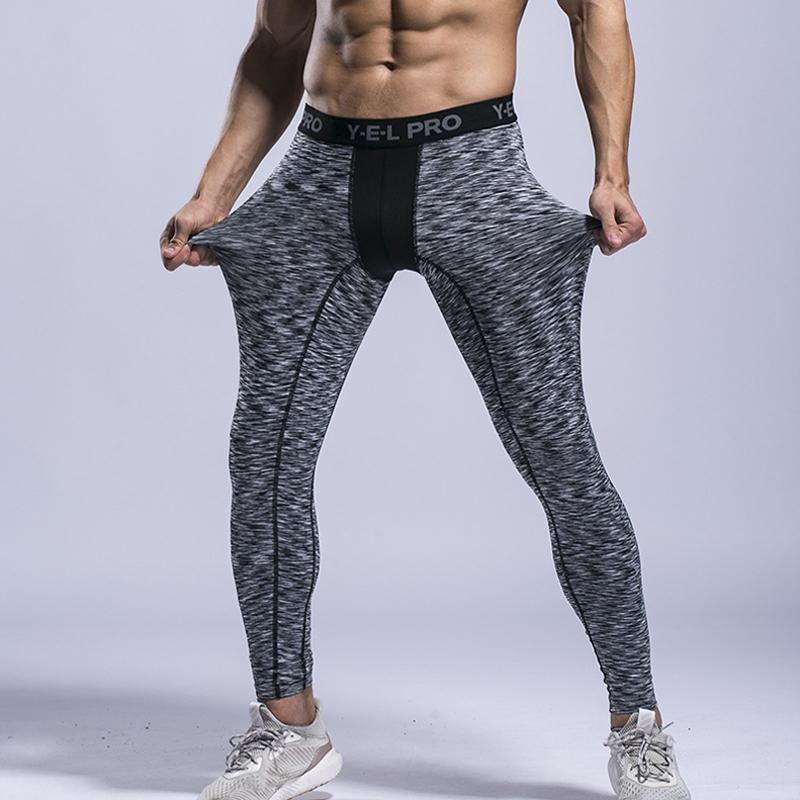Compre Pantalones Deportivos De Los Hombres Leggings Medias De Compresión  Para Hombre Correr Correr Leggings Compresión Culturismo Medias Baloncesto  A ... c2ef65580eec