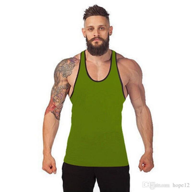 Sıcak satış Vücut Geliştirme Marka Tank Top Erkekler Stringer Tank Top Spor Atlet Kolsuz Gömlek Egzersiz Adam Atlet Giyim
