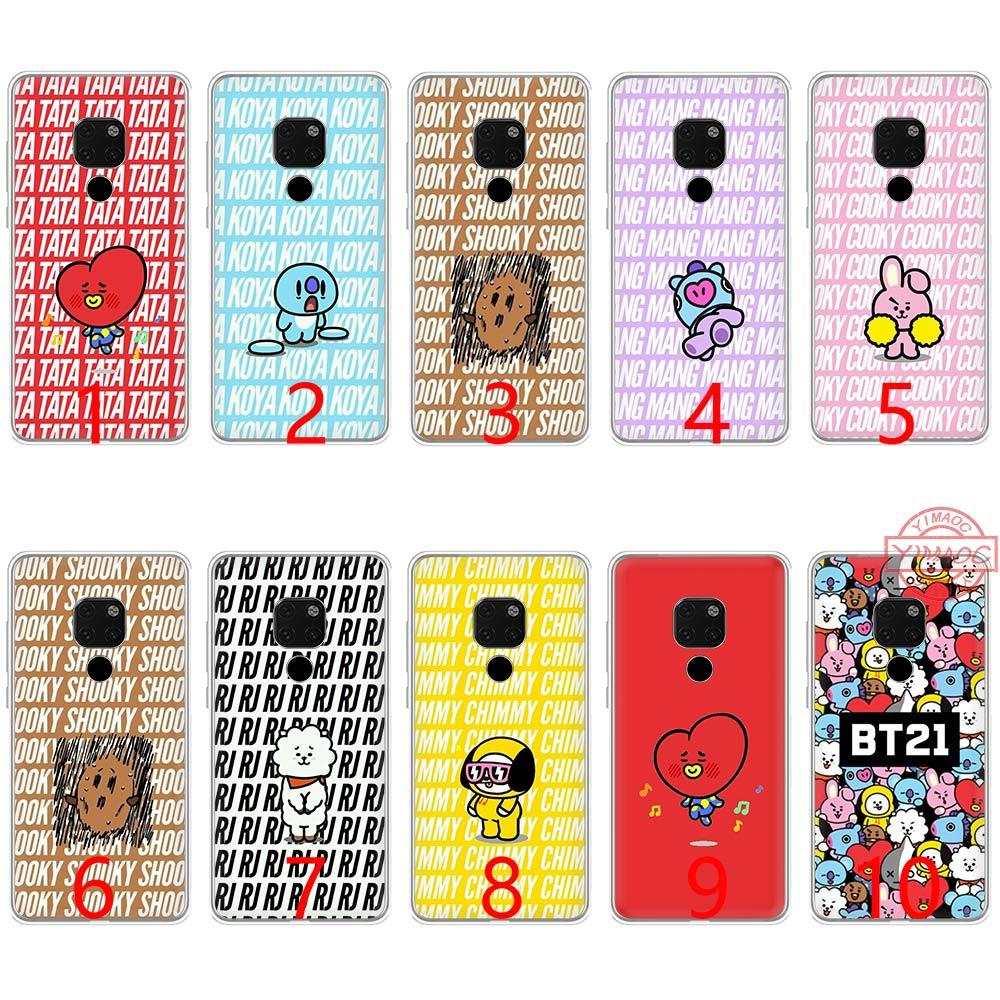BTS Bangtan Boys Bulletproof BT21 Loving Soft Silicone TPU Phone Case for  Huawei Mate 20 10 Pro Nova 2i 3 3i 4 Lite